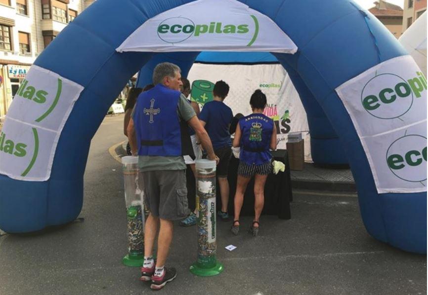 Ecopilas reciclaje en Vuelta a España y Sella